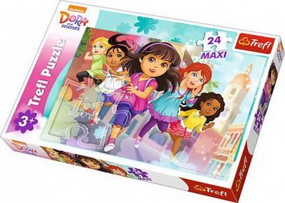 Puzzle Dora alearga trefl 24 maxi