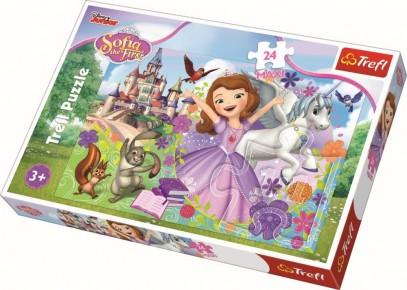 Puzzle Lumea colorata a Sofiei Trefl 24 maxi