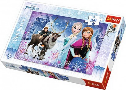 Puzzle Aventuri iarna Frozen trefl 160