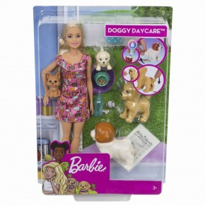 Papusa Barbie  set cu catelusi