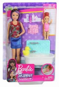 Papusa Barbie mamica satena cu bebelus