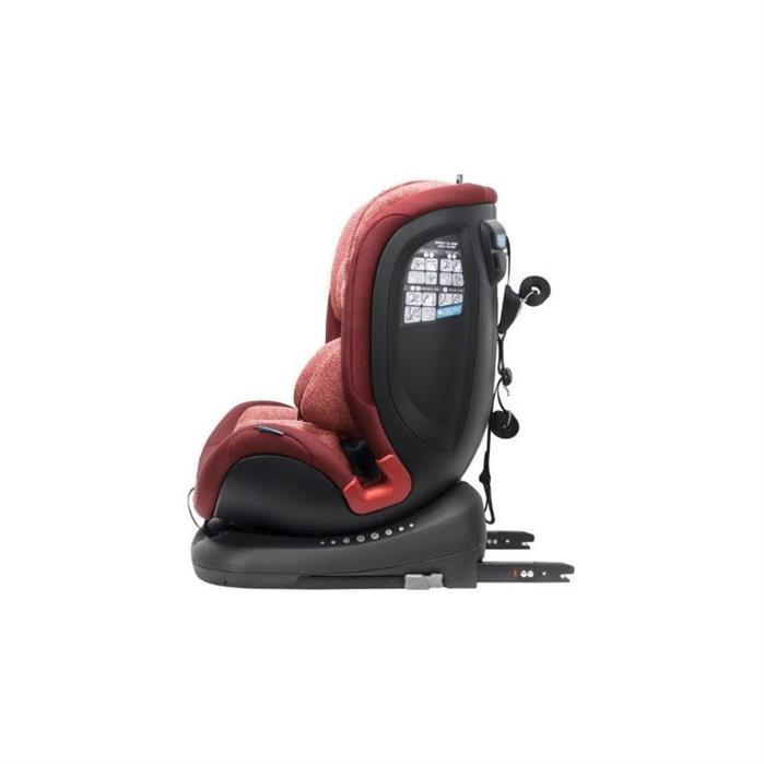Apramo - Scaun auto rotativ All Stage Burgundy Red, 0-36 kg