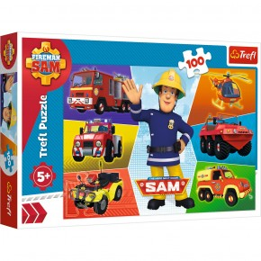Puzzle Trefl 100 Masinile Pompierul Sam