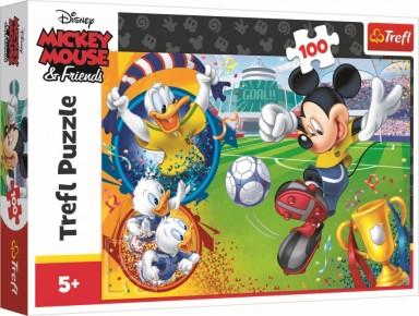 Puzzle Trefl 100 Mickey Mouse pe terenul de sport