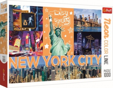 Puzzle Trefl 1000 New York neon