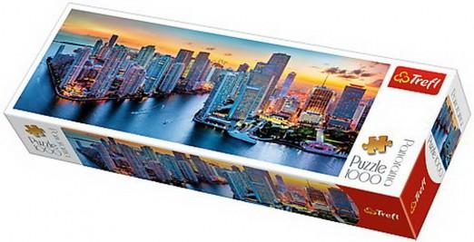 Puzzle Trefl 1000 Panorama Miami la apus
