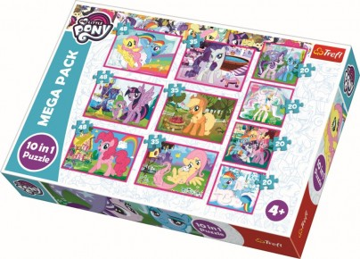 Puzzle Trefl 10 in 1 Lumea minunata a poneilor