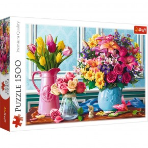 Puzzle Trefl 1500 Glastre cu flori
