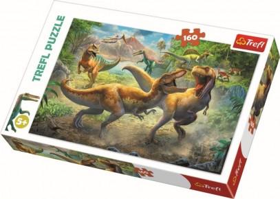 Puzzle Trefl 160 Tyrannosauri in lupta