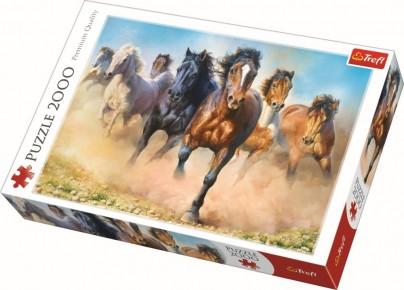 Puzzle Trefl 2000 Herghelie de cai galopand