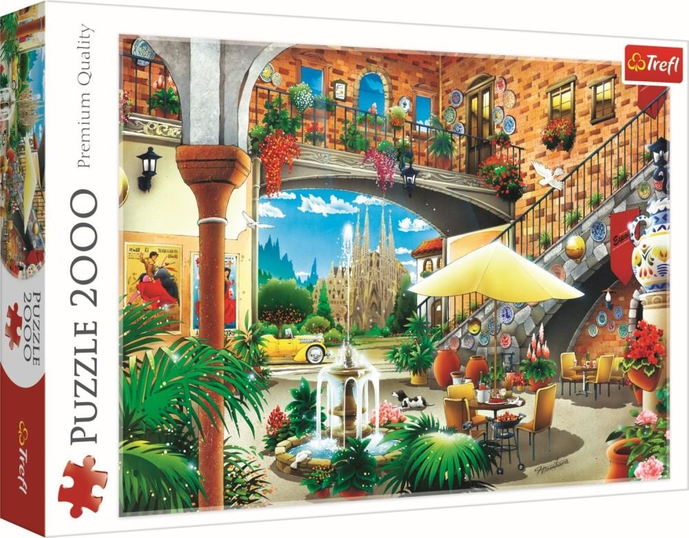 Puzzle Trefl 2000 Vedere in Barcelona