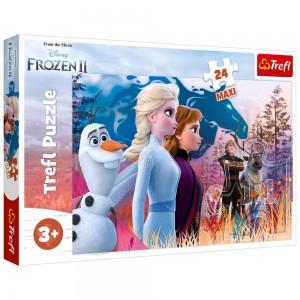 Puzzle Trefl 24 Maxi Frozen 2 Calatoria magica
