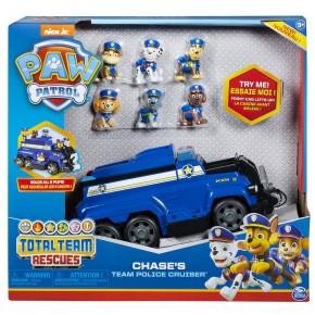 Super masina de politie Chase cu 6 catelusi