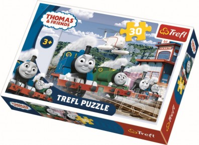 Puzzle Trefl 30 Cursa pe sine