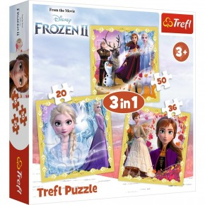 Puzzle Trefl 3in1 Frozen 2 Anna si Elsa