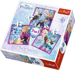 Puzzle Trefl 3in1 Magia iernii
