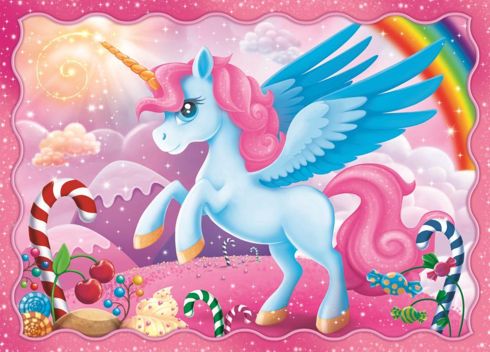 Puzzle Trefl 4in1 Lumea minunata a unicornilor