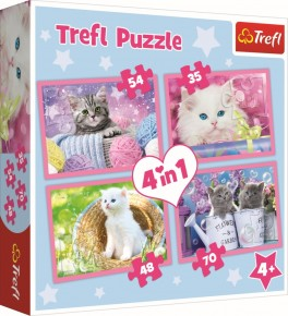 Puzzle Trefl 4in1 Pisicile de distreaza