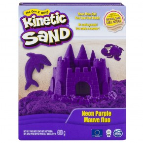 Kinetic Sand Deluxe culori mov neon 680 gr