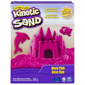 Kinetic Sand Deluxe culori roz neon 680 gr