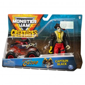 Monster Jam macheta blestemul piratilor si capitanul negru