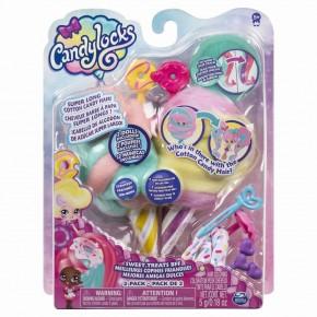 Set 2 papusi Candylocks cu accesorii - Jilly Jelly si Donna Nut