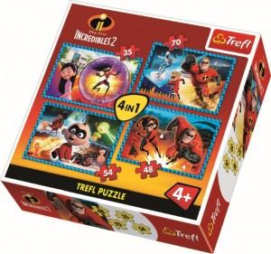 Puzzle Trefl 4in1 - Familia incredibila