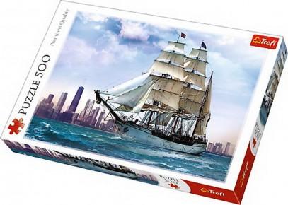 Puzzle Trefl 500 Navigand spre Chicago