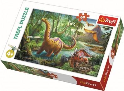 Puzzle Trefl 60 Migratia dinozaurilor