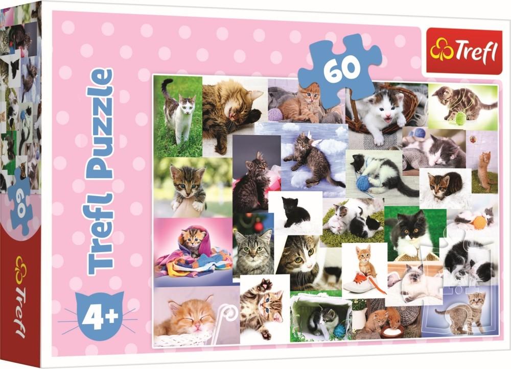Puzzle Trefl 60 O lumea a pisicilor
