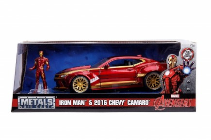 Macheta metalica Iron Man & 2016 Chevy Camaro