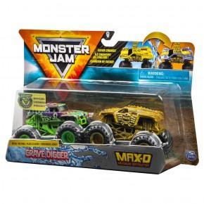 Monster Jam set 2 machete Max D si Grave Digger color change