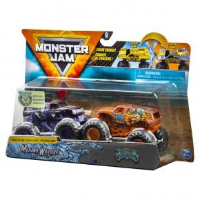Monster Jam set 2 machete Mohawk Warrior si Jester color change