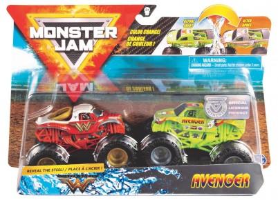 Monster Jam set machete Wonder Woman si Avenger color change