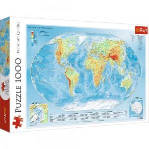 Puzzle Trefl 1000 Harta fizica a lumii