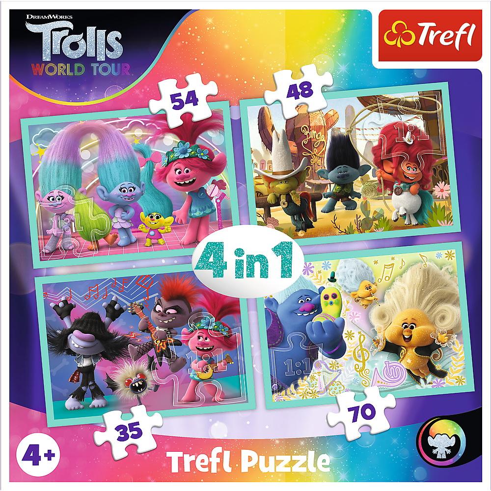 Puzzle Trefl 4in1 Trolii in concert