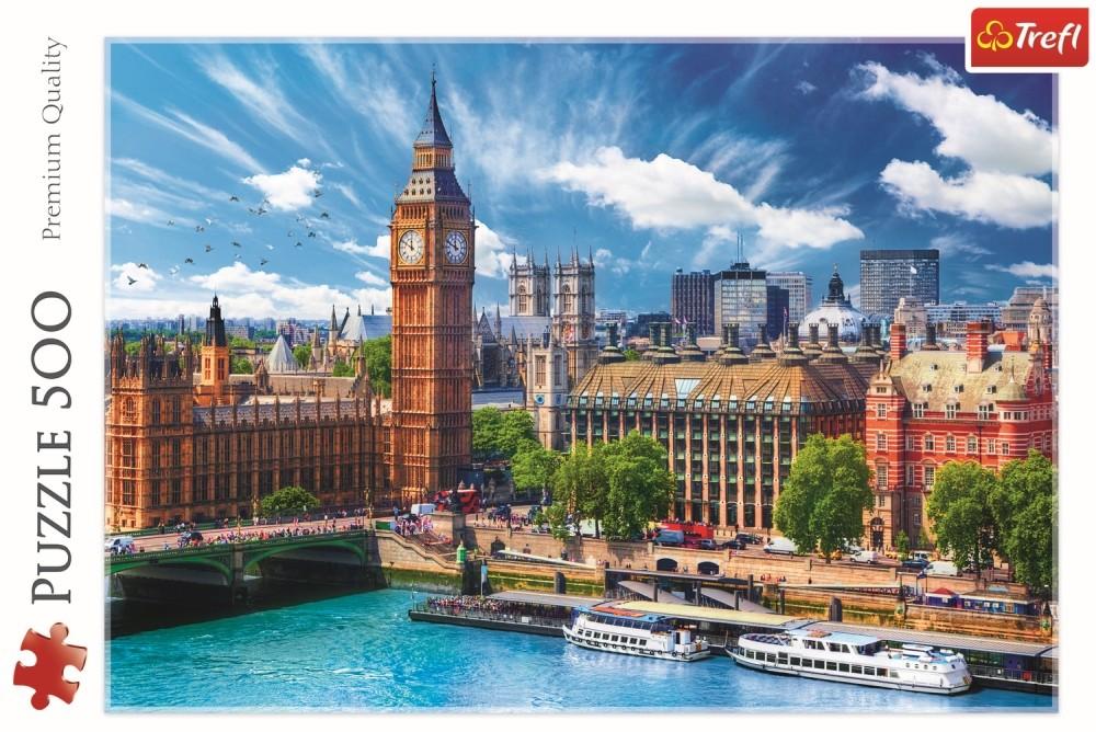 Puzzle Trefl 500 O zi cu soare la Londra