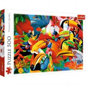 Puzzle Trefl 500 Pasari colorate