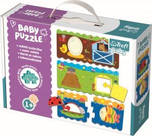 Puzzle Trefl Baby Clasic sorteaza animalele