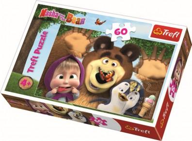 Puzzle Trefl - O zi fericita cu Masha - 60 piese