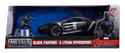 Macheta metalica Black Panther & Lykan Hypersport