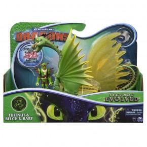 Dragons 3 Set Dragon Belch si Barf cu figurina Tuffnut