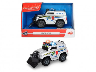 Dickie masina de politie 15 cm sunete si lumini