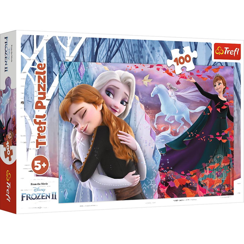 Puzzle Trefl 100 Frozen 2 Impreuna pentru totdeauna