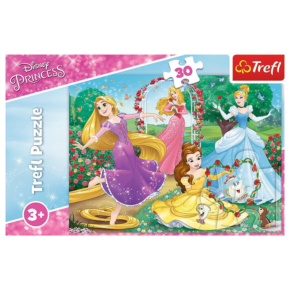 Puzzle Trefl 30 Printese Disney in gradina palatului