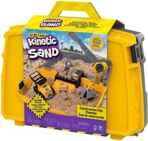 Kinetic Sand set excaveaza construieste si demoleaza in cutie cu accesorii si maner