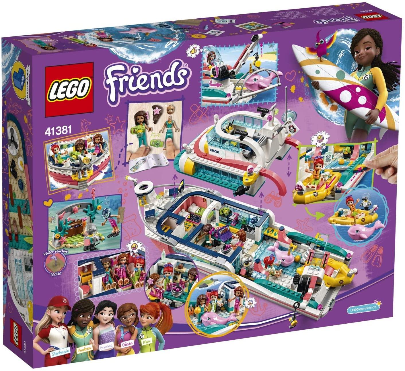 Lego Friends Barca pentru misiuni de salvare 41381