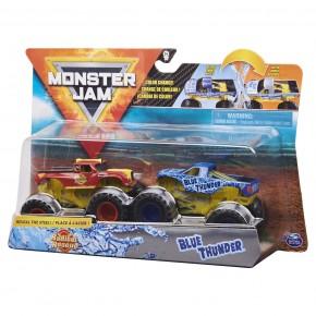 Monster Jam Set 2 masinute radical rescue si blue thunder color
