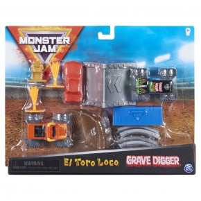 Monster Jam set de joaca El Toro Loco si Groparul
