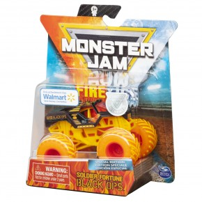Monster Jam Masinuta metalica fire and ice Soldier fortune black Ops